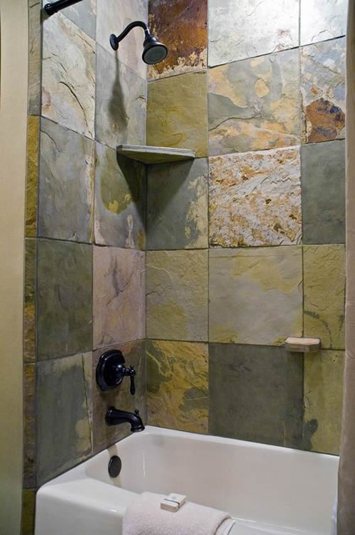 Cool Slate Bathroom Remodel  Hardhat13